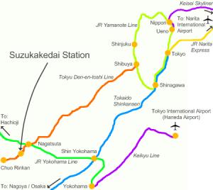 Shibuya to Fujigaoka (3 station before Nagatsuta Station)... That was 4 hours journey in total mennn (from Narita to Fujigaoka) -_-?
